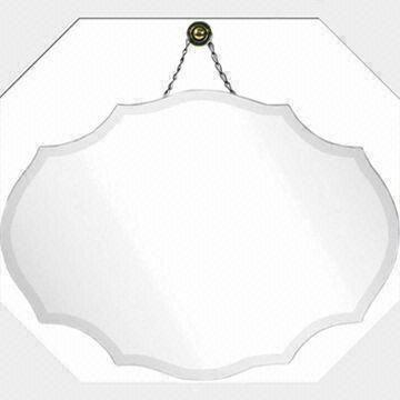 China Glass Hanging Mirror With Scalloped Shape Measuring