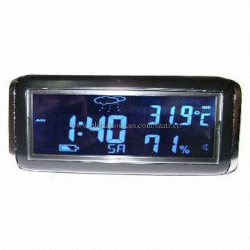 ... China Car Interior Decorations With Indoor, Out Door Thermometer, Blue  And Orange Backlight