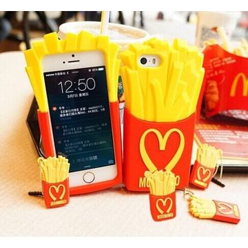 ... China New Cute 3D Fries Soft Silicone Back Case Cover Skin for Apple iPhone 5/ ...