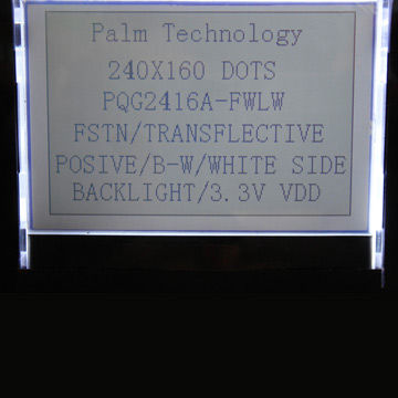 Taiwan Graphics LCD Module with LED Backlight and 52 4 x
