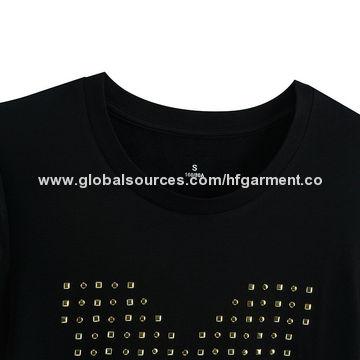 5bdbbb26f ... China High Quality Word Printing Promotion Girls' T-shirt Made of 100%  Cotton ...