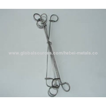 China Double loop wire ties, made of galvanized steel wire/black ...