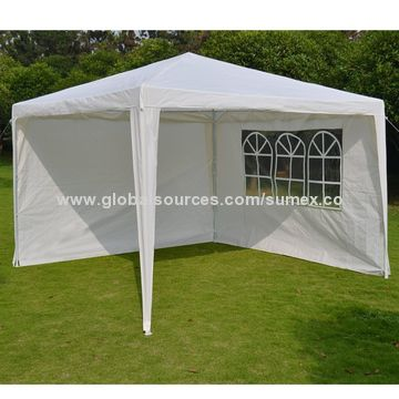 ... China 3X3M Wedding Party Tent with sidewalls Steel Frame PE Fabrics ... & China 3X3M Wedding Party Tent with sidewalls Steel Frame PE ...