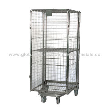 ... China Heavy Duty Steel Wire Mesh Storage Roll Cage ...