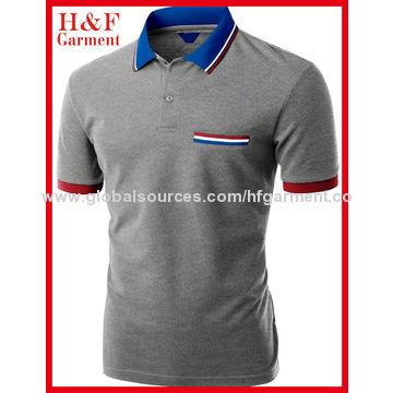 China Cotton Polyester Fabric Men S Polo Shirts Nice Collar Cuffs