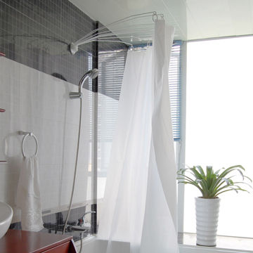 China Shower curtain rod, fan-shaped rod on Global Sources