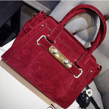 Hong Kong Sar Pu Leather Handbags Hot Fashion Style With A Detachable Shoulder Straps For