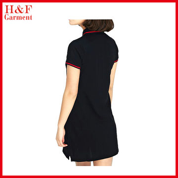 China Casual Ladies Polo Dress Shirts Design Breathable Cotton