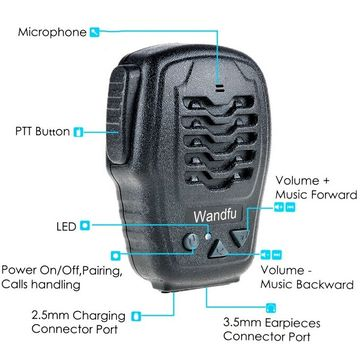 China ISO & Android cell phone Bluetooth PTT microphone for