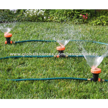 china 3 in 1 portable sprinkler system with 5 spray settings 3pcs 5