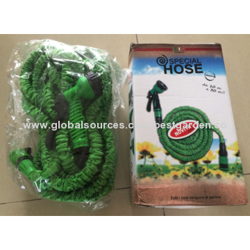 China Special Garden Hose, Three Times Stretchable, Lightweight, Never Tangles or Kinks, Easy to Store