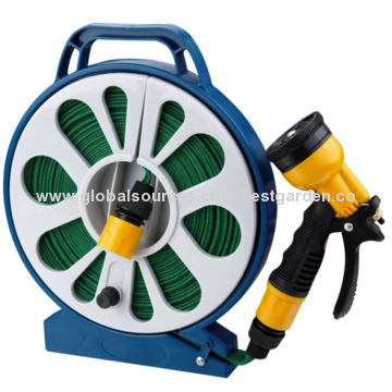 ... Best China 50u0027 Light Weight Roll Flat Garden Hose Reel Set, Best