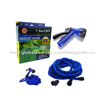 Flex Garden Hose Auto Expandable Stretches to Three Times