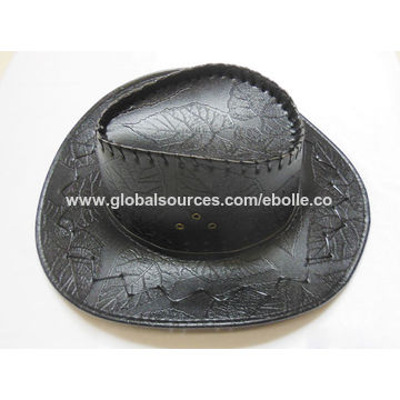 ... China Embossed PU Fake Leather Cowboy Hats 731f86427cc
