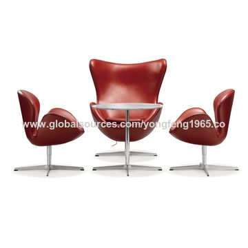 china egg shaped chair with padded shell star shaped aluminum