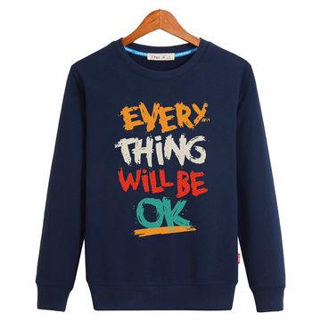 Wholesale printing custom fleece men's crew neck sweatshirt