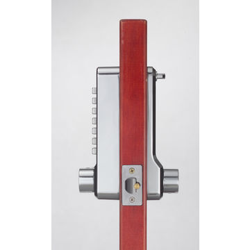 Mechanical Heavy Duty Pushbutton Door Lock with Spring Latch