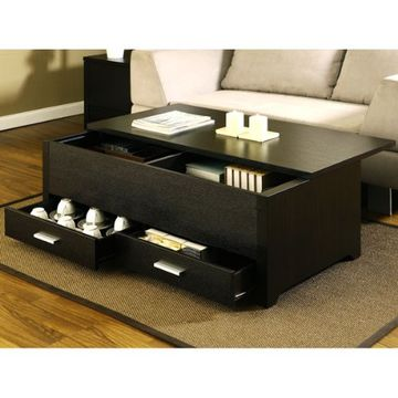 China Home Furniture Black Lift Top Coffee Table On Global