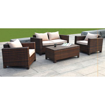 ... China 4 Piece Rattan Wicker Sofa Set, Including 2 Piece Single Chairs/