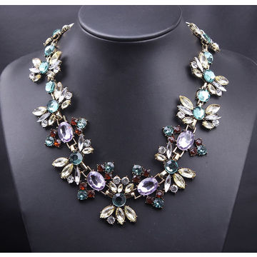 Hong kong sar fine jewelry statement necklaces pendants imitated hong kong sar fine jewelry statement necklaces pendants imitated gemstone collier for women accessories aloadofball Choice Image