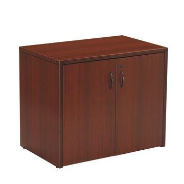 China 2 Door Storage Cabinet With Wooden Glass Door Tri Groove Edge
