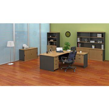 ... China Modular Office Furniture, U Shaped Corner Desk With Hutch ...