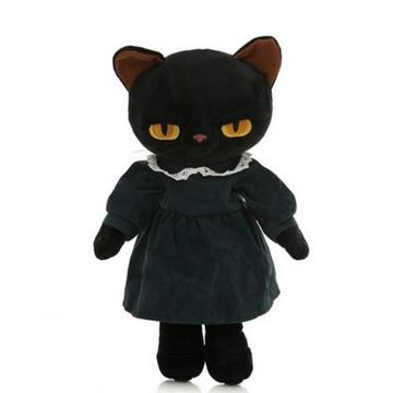 China Lovely Plush Black Cat Doll For Baby On Global Sources