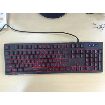 Wired Keyboard with Single Color LED Backlight