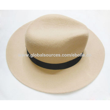2afae7fd9bd54 ... China Chic Wide Brim Wool Felt Hats for Men