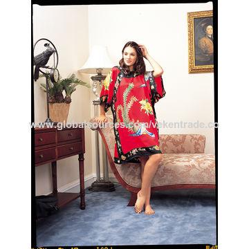 China Silk dress, hand print