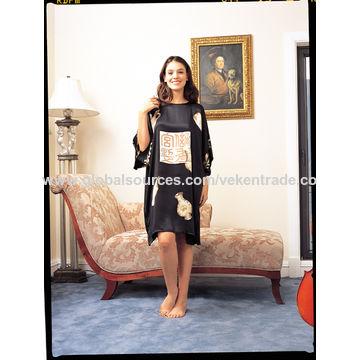 China Silk dress, hand printing