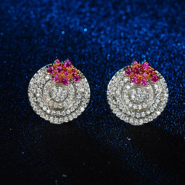 China Suppliers Customized White Earrings Ring Shaped For S