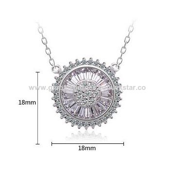 China fashion design white gold plated cubic zirconia pendant china fashion design white gold plated cubic zirconia pendant necklace for women aloadofball Images