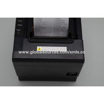China POS thermal printer, 80mm, print text, QR code, image