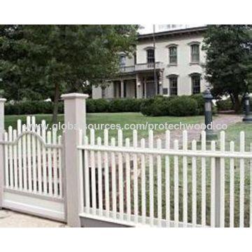 Fencing wood plastic composite building materials