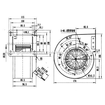 China 160mm Diameter Ac Centrifugal Fans With Backward Curved