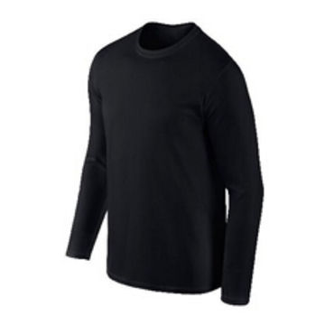 China Plain black long sleeve T-shirt for men on Global Sources