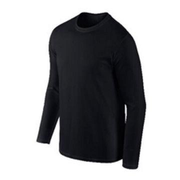 34c856cf8 China Plain black long sleeve T-shirt for men on Global Sources