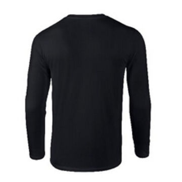 10450783b8 China Plain black long sleeve T-shirt for men on Global Sources