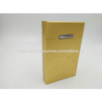 Tinplate cigarette cases in flip-open cover,tinplate in thickness of 0.23mm