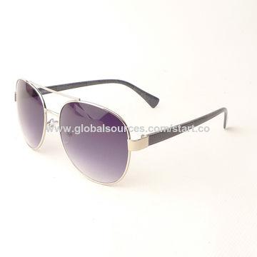 29004e359a ... China Las gafas de sol tipo aviador con el marco metálico, 400 lentes  unisex,