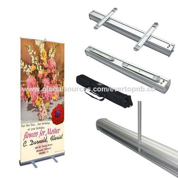 China roll up banner stand made of aluminium alloy with for Stand roll up