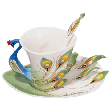 83af5b2f818 ... China Super Beautiful High-quality Chinese Ceramic Cup, Enamel Porcelain  Dazzle Gold Peacock Design