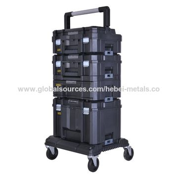 ... China 3 Piece Heavy Duty Tough Plastic Tool Box Set On Wheels ...