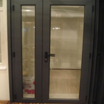 China puertas exteriores residenciales de aluminio de la for Puertas dobles para exterior