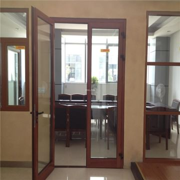 China Double glazing aluminum residential exterior doors on Global ...