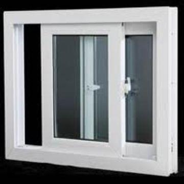 China Double Glazed Glass Sliding Style Upvc Windows On