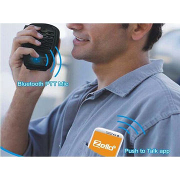 China Bluetooth PTT microphone for Zello walkie talkie app Android