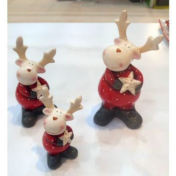 China Porcelain Christmas Deer Decorations China Porcelain Christmas Deer Decorations ...