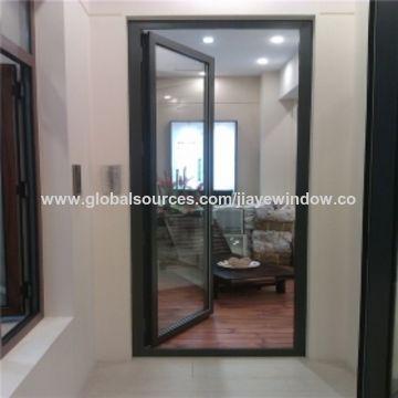 China Aluminium Single Leaf Exterior Casement Glass Hinged Doors On